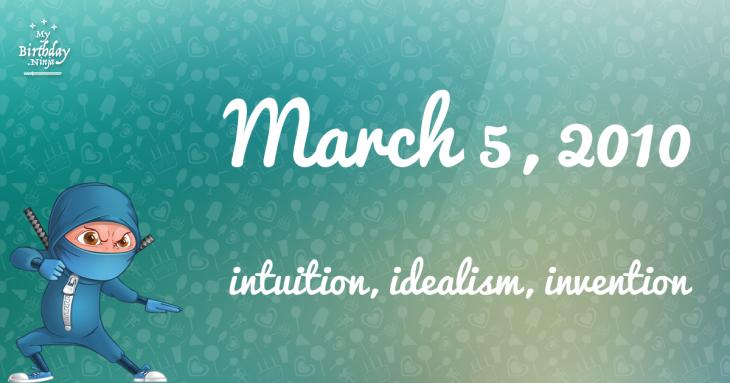 March 5, 2010 Birthday Ninja