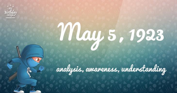 May 5, 1923 Birthday Ninja