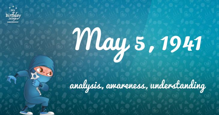 May 5, 1941 Birthday Ninja