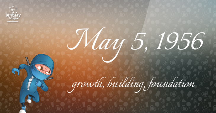 May 5, 1956 Birthday Ninja