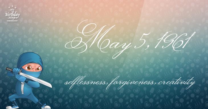 May 5, 1961 Birthday Ninja