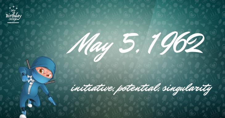 May 5, 1962 Birthday Ninja