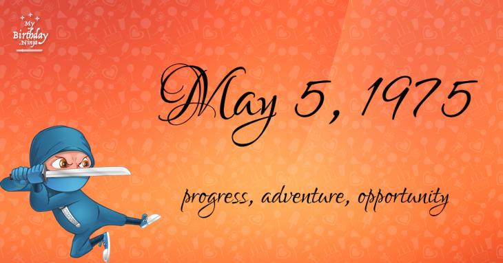 May 5, 1975 Birthday Ninja