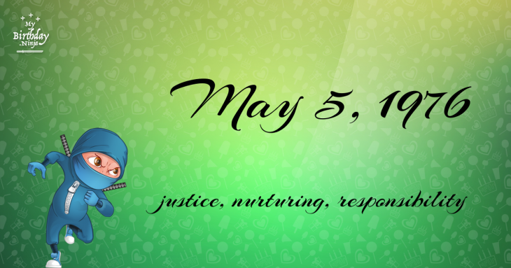 May 5, 1976 Birthday Ninja