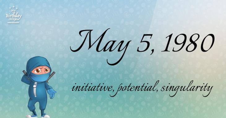 May 5, 1980 Birthday Ninja