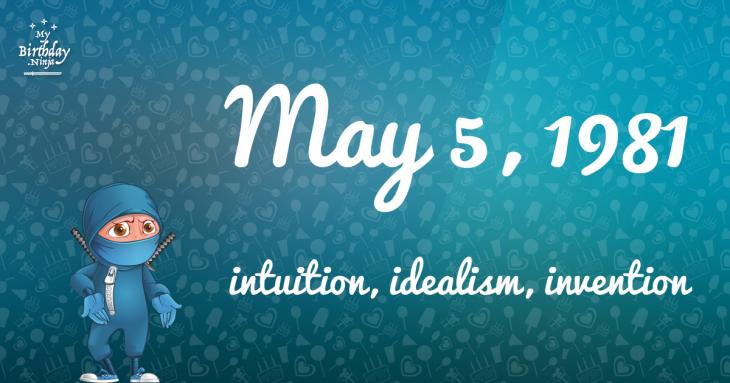 May 5, 1981 Birthday Ninja