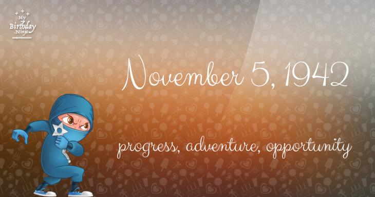 November 5, 1942 Birthday Ninja