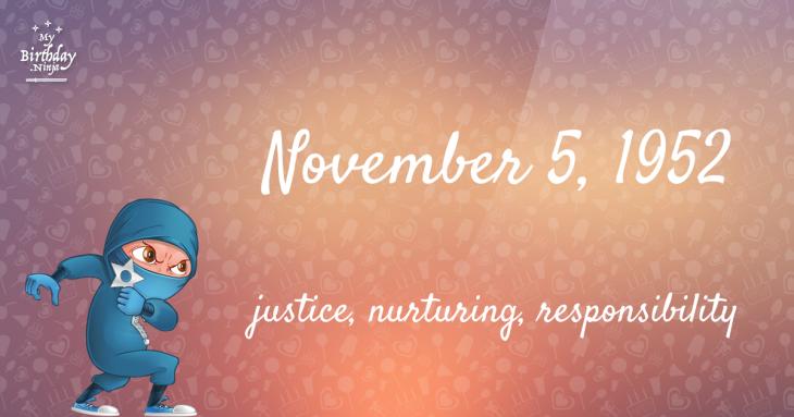 November 5, 1952 Birthday Ninja