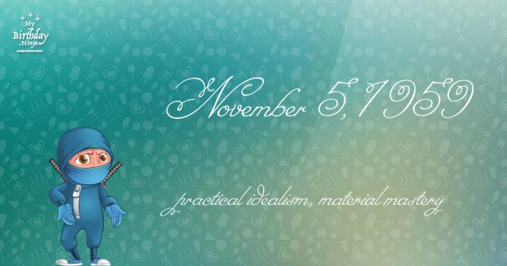 November 5, 1959 Birthday Ninja