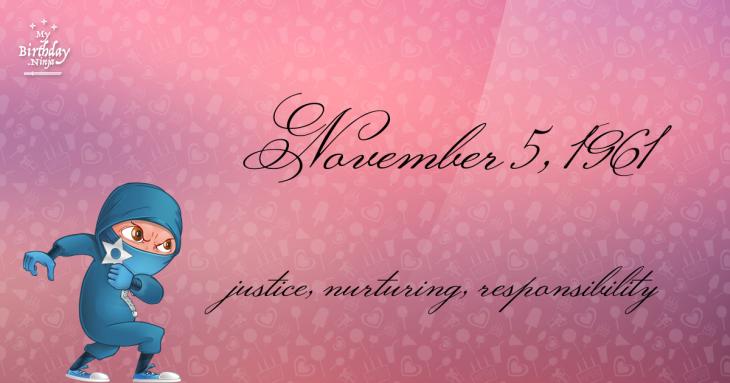 November 5, 1961 Birthday Ninja