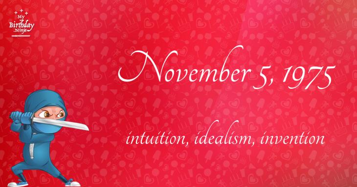 November 5, 1975 Birthday Ninja