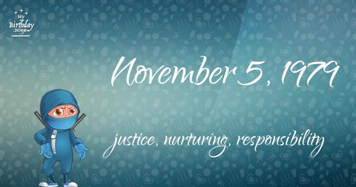 November 5, 1979 Birthday Ninja