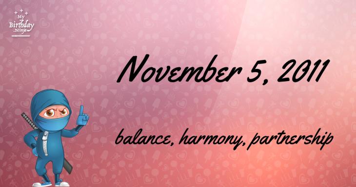 November 5, 2011 Birthday Ninja