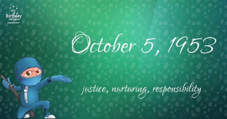 October 5, 1953 Birthday Ninja