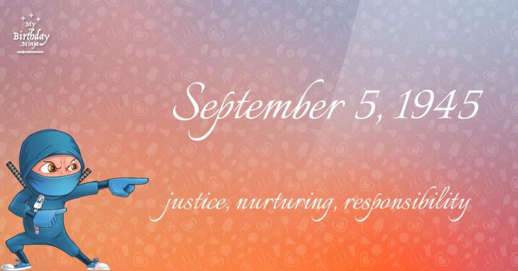 September 5, 1945 Birthday Ninja