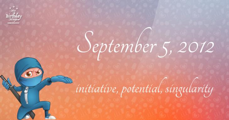 September 5, 2012 Birthday Ninja