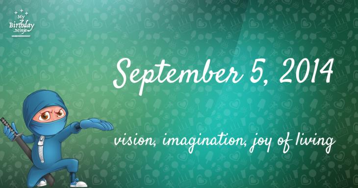 September 5, 2014 Birthday Ninja