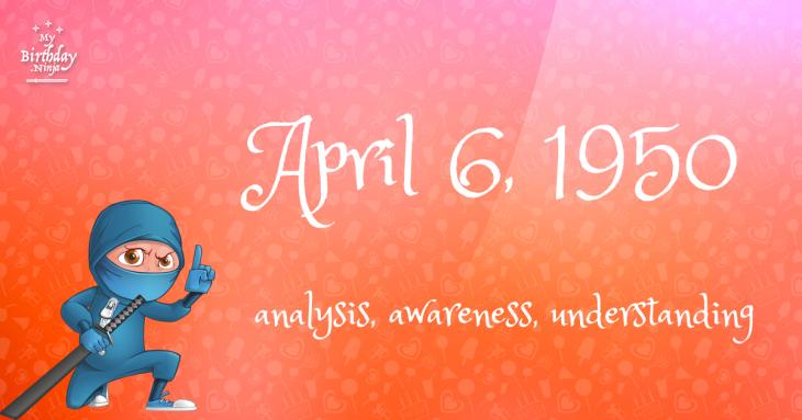 April 6, 1950 Birthday Ninja