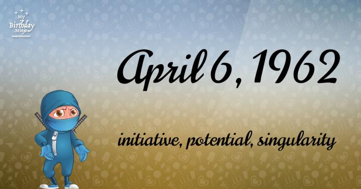 April 6, 1962 Birthday Ninja