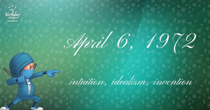 April 6, 1972 Birthday Ninja