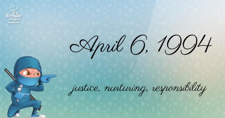 April 6, 1994 Birthday Ninja