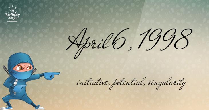 April 6, 1998 Birthday Ninja