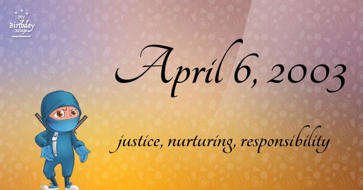 April 6, 2003 Birthday Ninja