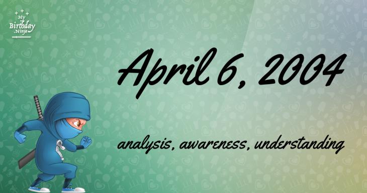 April 6, 2004 Birthday Ninja