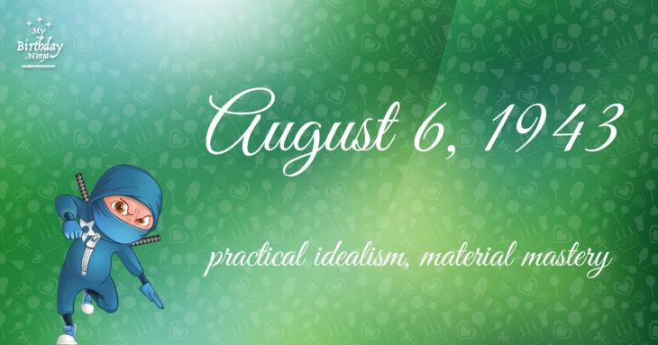 August 6, 1943 Birthday Ninja