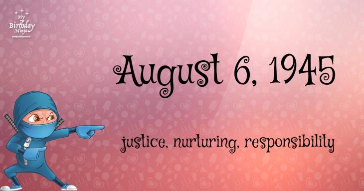 August 6, 1945 Birthday Ninja