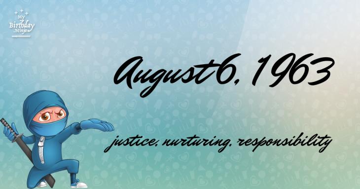 August 6, 1963 Birthday Ninja