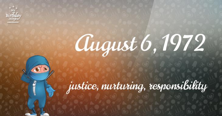 August 6, 1972 Birthday Ninja