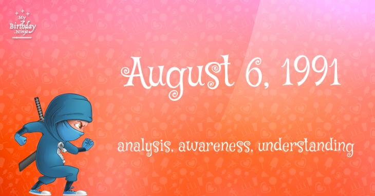 August 6, 1991 Birthday Ninja