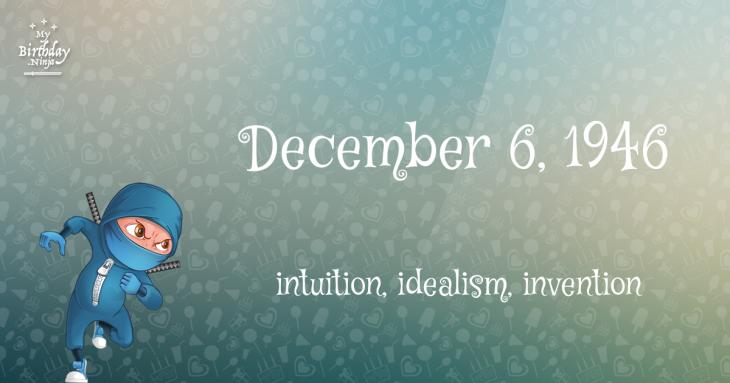 December 6, 1946 Birthday Ninja