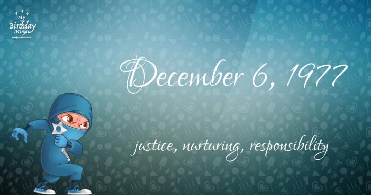 December 6, 1977 Birthday Ninja
