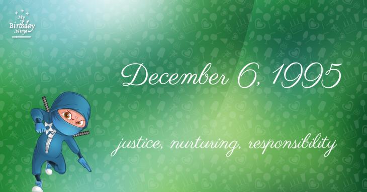 December 6, 1995 Birthday Ninja