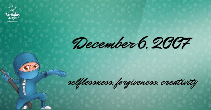December 6, 2007 Birthday Ninja