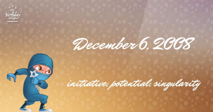 December 6, 2008 Birthday Ninja