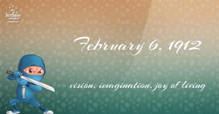 February 6, 1912 Birthday Ninja