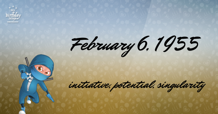 February 6, 1955 Birthday Ninja