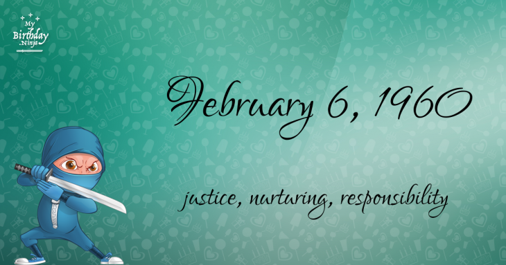 February 6, 1960 Birthday Ninja