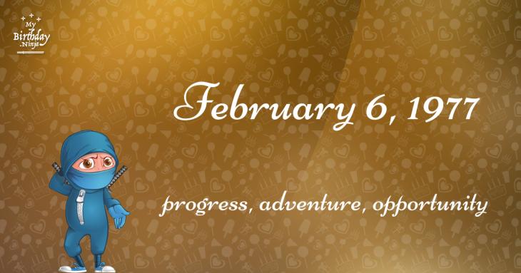 February 6, 1977 Birthday Ninja