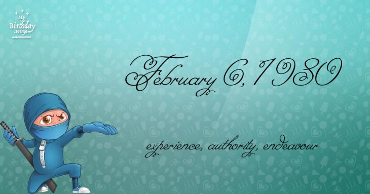 February 6, 1980 Birthday Ninja
