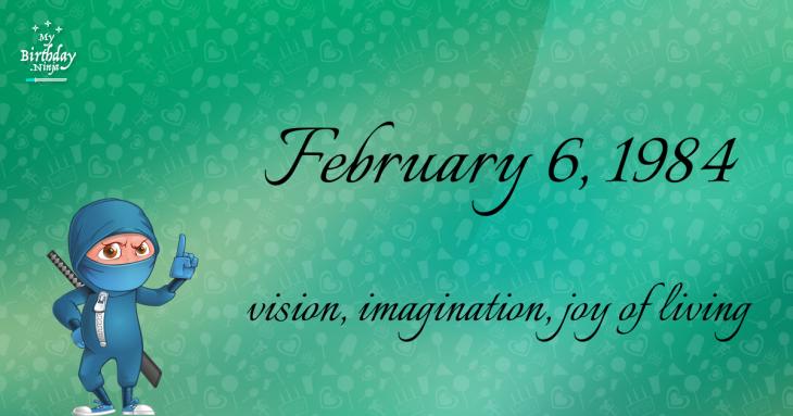 February 6, 1984 Birthday Ninja
