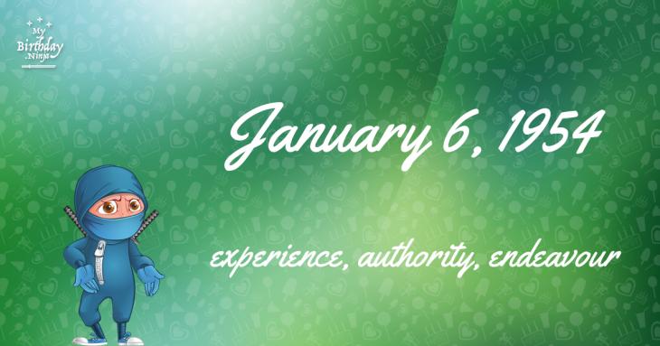 January 6, 1954 Birthday Ninja