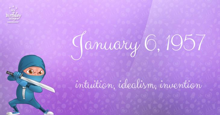 January 6, 1957 Birthday Ninja