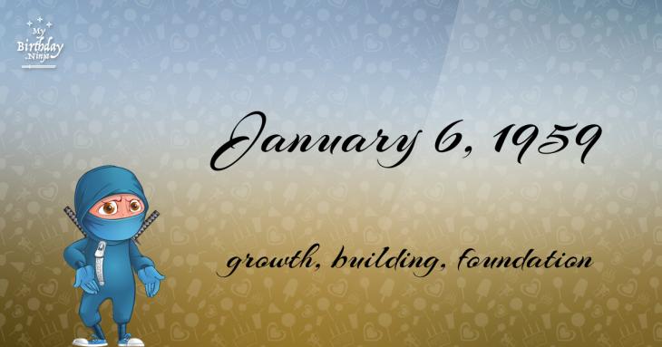 January 6, 1959 Birthday Ninja