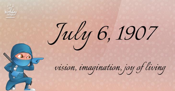 July 6, 1907 Birthday Ninja