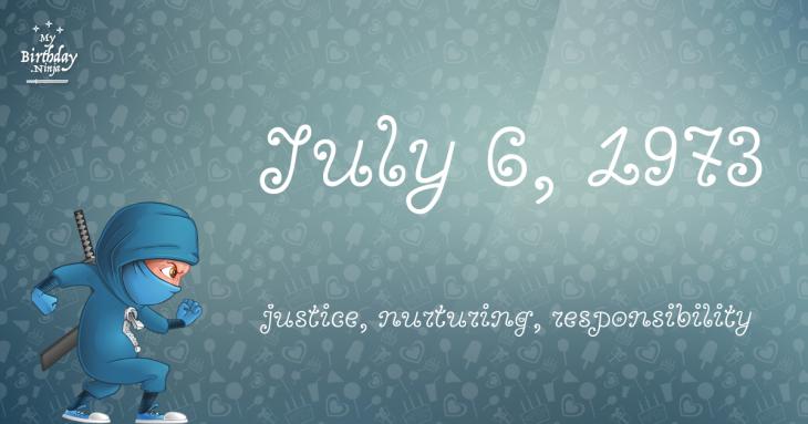 July 6, 1973 Birthday Ninja