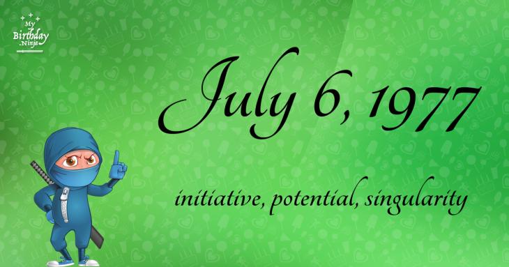 July 6, 1977 Birthday Ninja